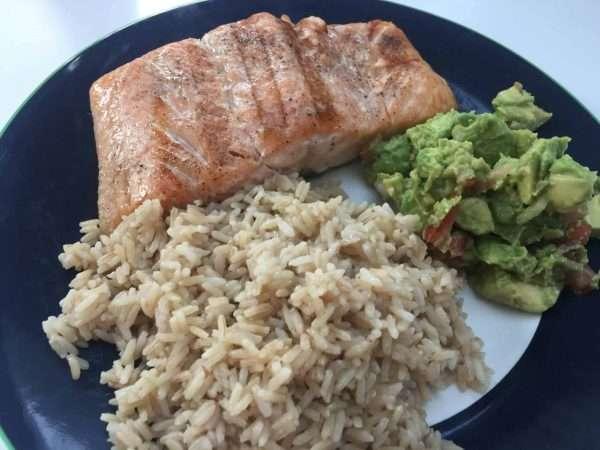 WIld Rose Detox Recipes Salmon with avocado salsa