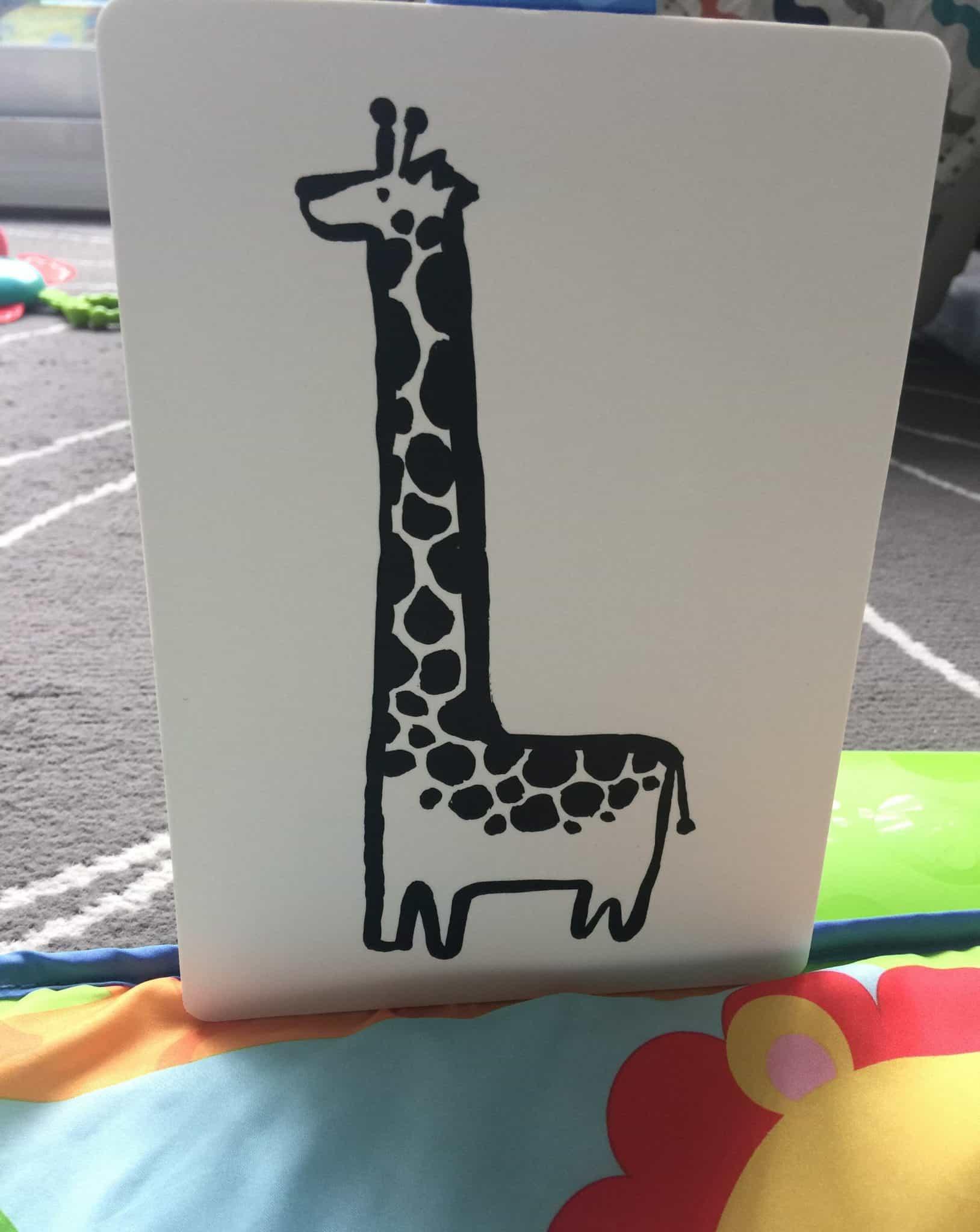 baby gym activity hacks art cards