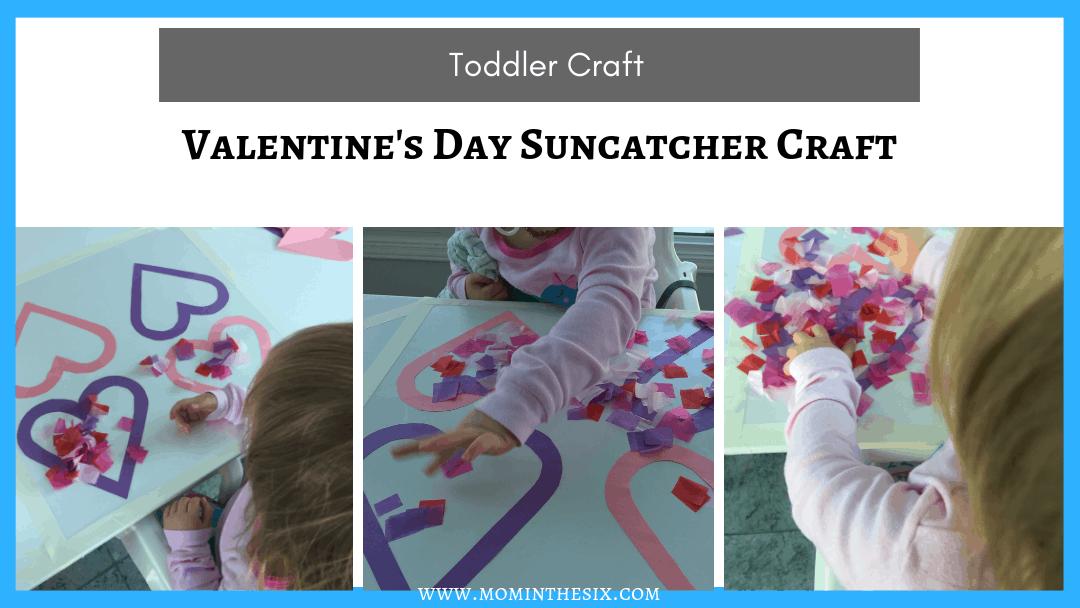 Heart Suncatcher Valentines Day Toddler Craft