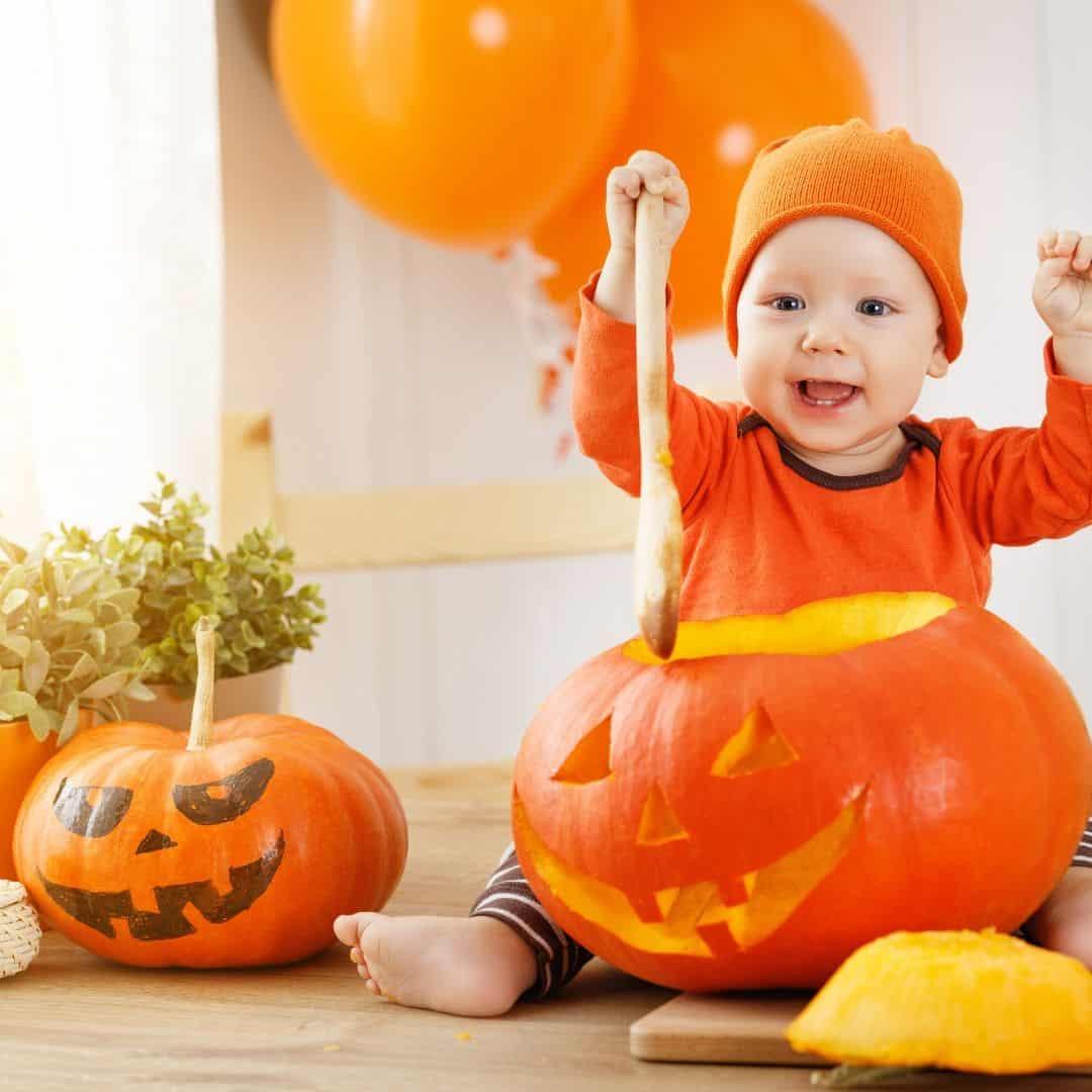 Baby Pumpkin Carving Sensory Activity