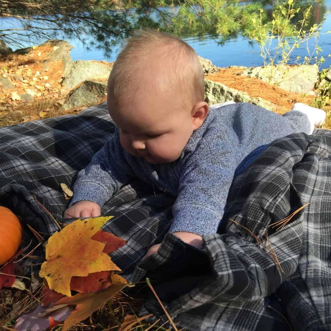 Baby Tummy Time Fall Activity
