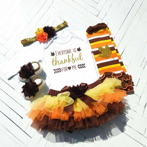 Thanksgiving Baby Girl Outfit, Fall Tutu Bloomer