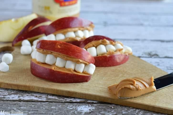 Apple Peanut Butter Teeth | Fun Easy Kid's Snack