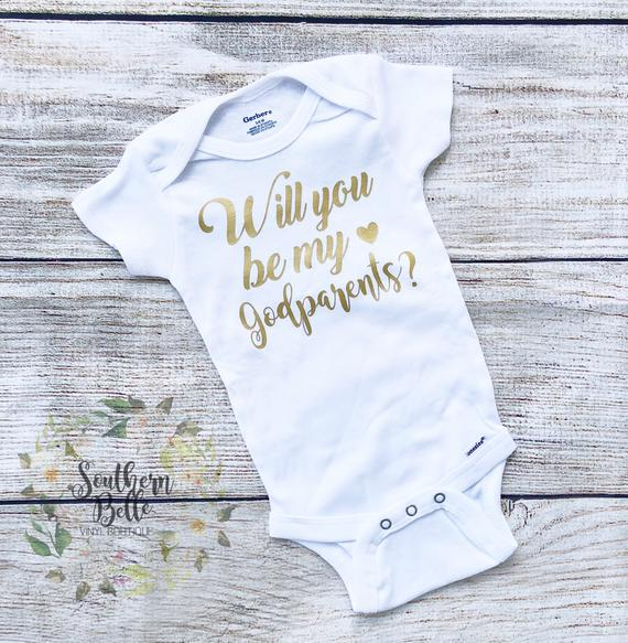 Will you be my Godparents Onesie
