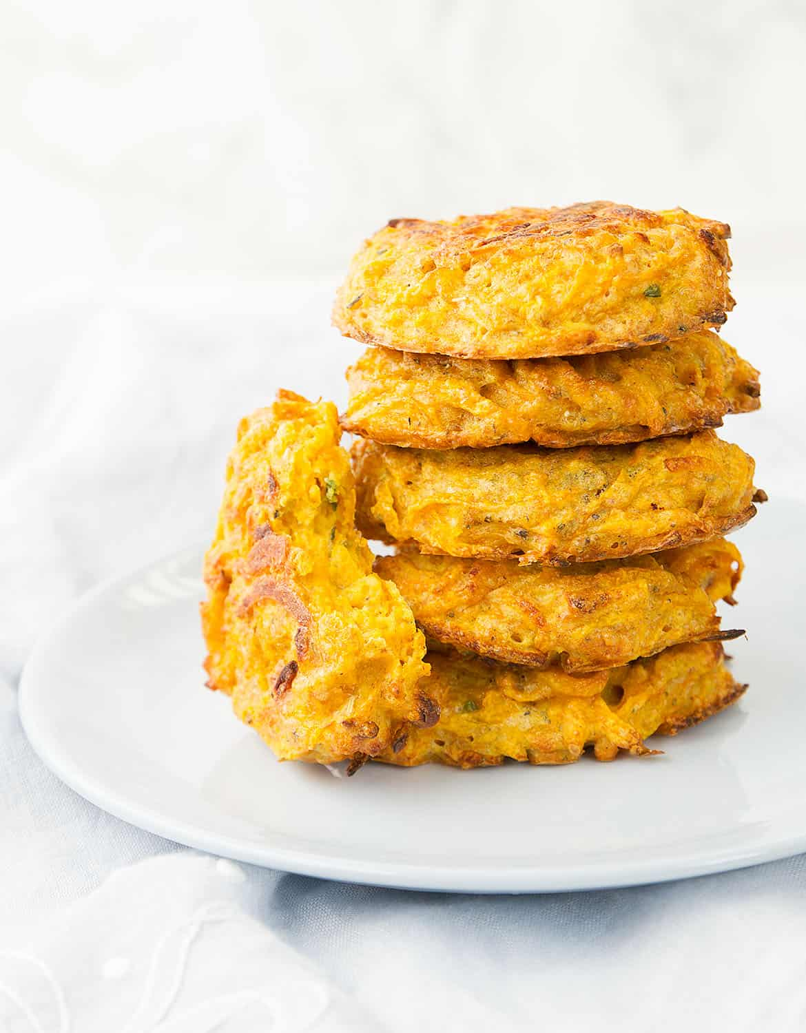 BAKED BUTTERNUT SQUASH FRITTERS WITH PARMESAN