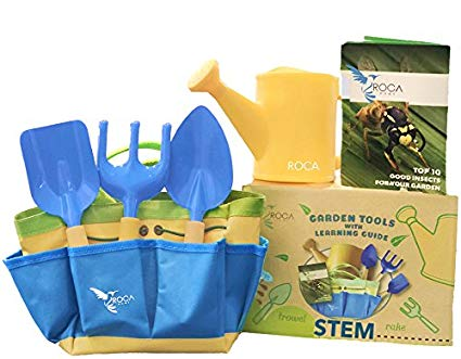 Kids Garden Tools with STEM Learning Guide by ROCA Toys