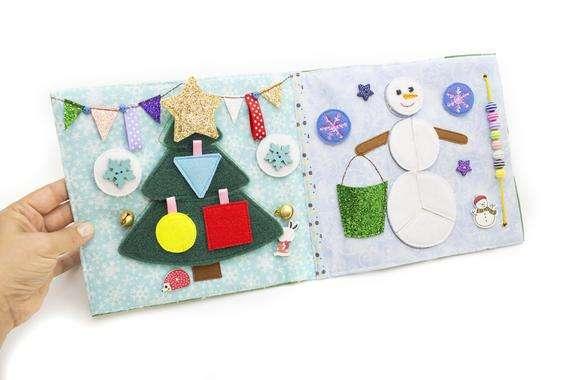 Quiet book mini - Merry Christmas stocking!