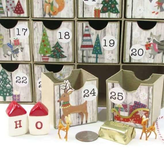 Woodland Wonder, Reusable Heirloom Advent Decor Boxes
