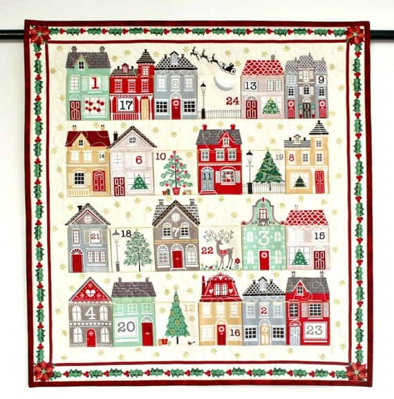 Quilted Advent Calendar, Town Houses