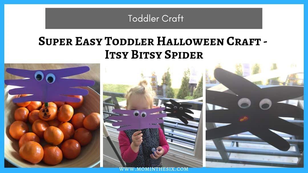 Easy Toddler Halloween Craft – Itsy Bitsy Spider