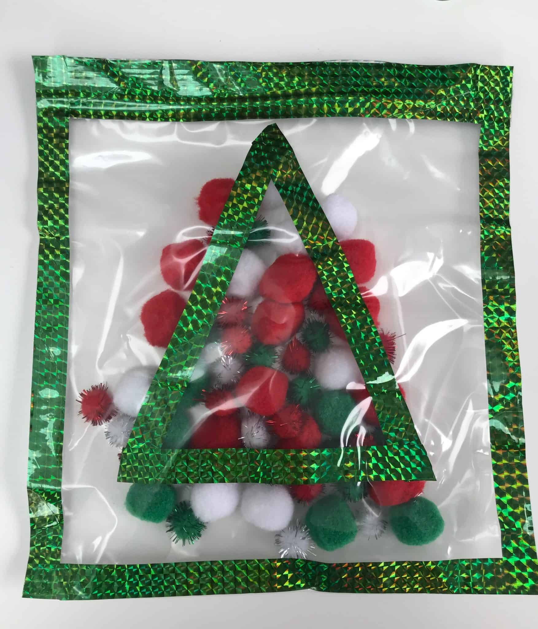 Sensory Bag with Christmas Tree and Decorations