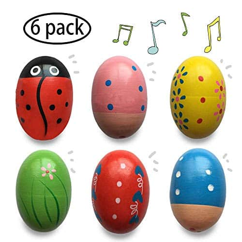Wooden Percussion Musical Shake Egg Easter Shakers