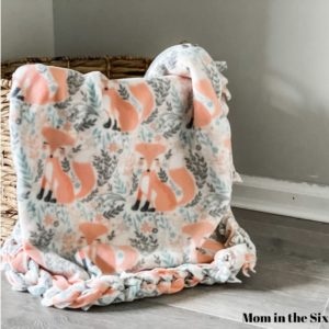 no sew baby blanket fleece diy