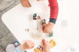 toddler playdate idea playdoh set