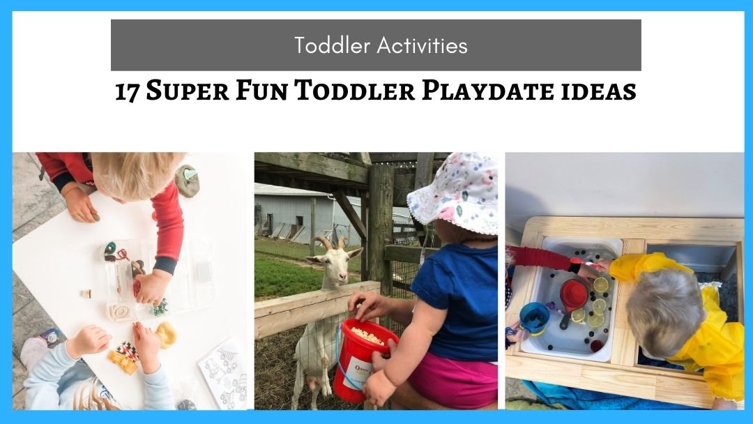 17 Fun Toddler playdate ideas (Hosting and Activity ideas for 2 and 3 year olds)
