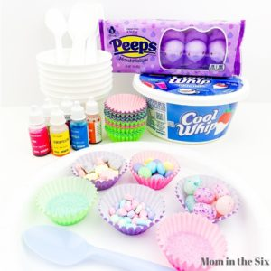 Supplies for Easter Food Craft for Preschoolers