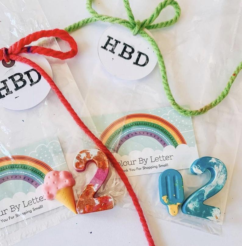 personalized crayon goodie bags