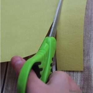 kindergartner cutting