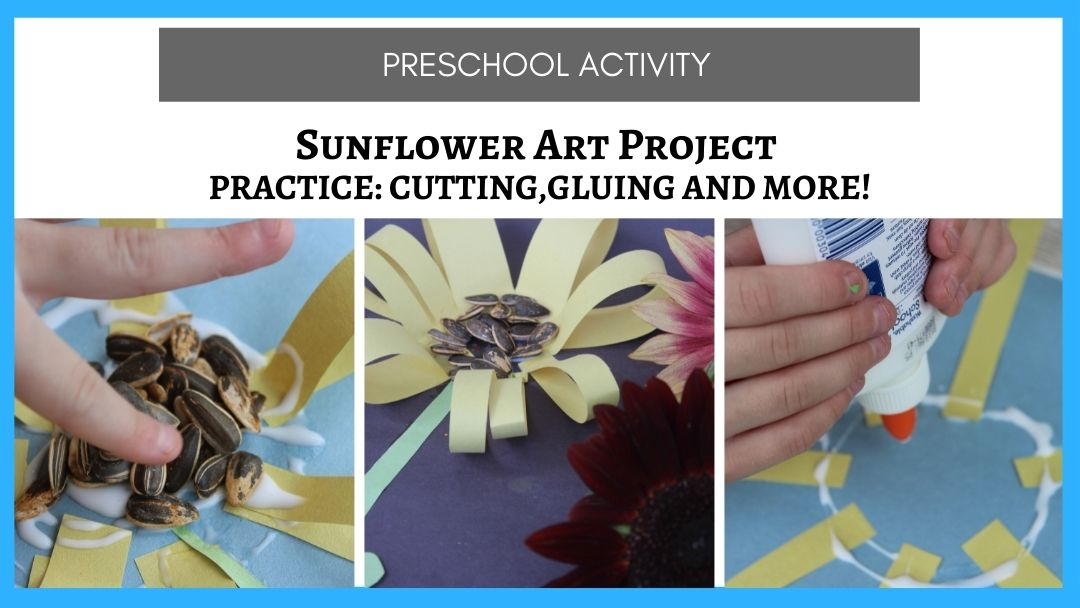 Sunflower Art for Kindergarten (or Preschool)