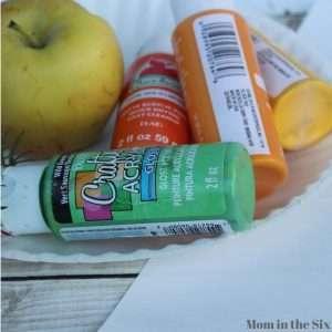 supplies for apple stamping pumpkin craft